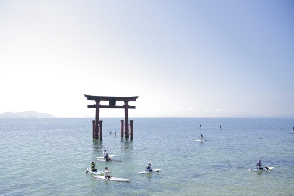 白髭神社 琵琶湖の鳥居
