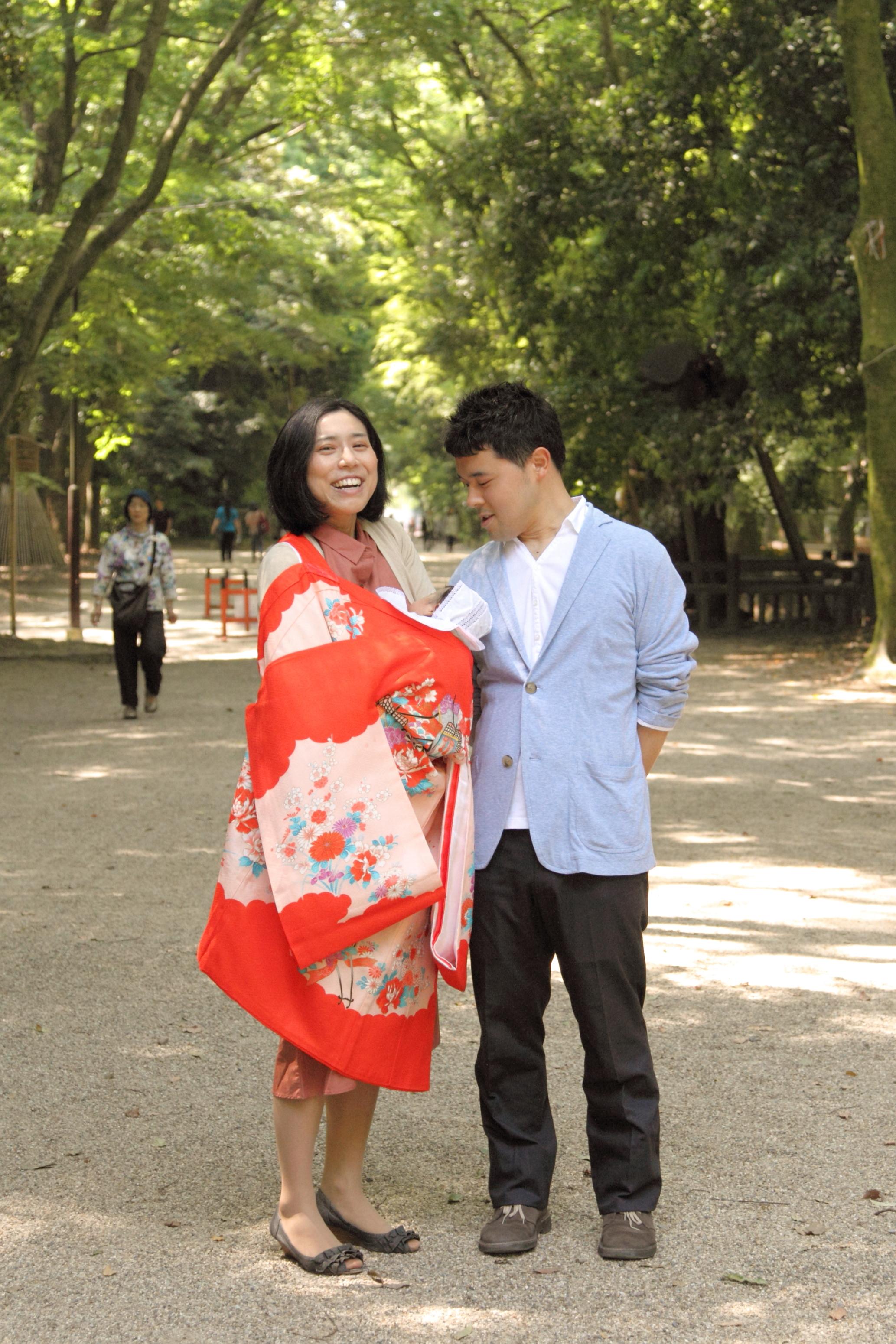 お宮参り 家族写真 下鴨神社 行事の記念 京都 出張 カメラマン