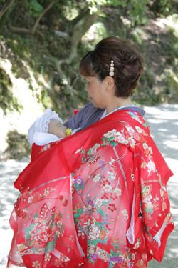 お宮参り 上賀茂神社 家族写真 出張撮影 蛭子美和子 あおぞら