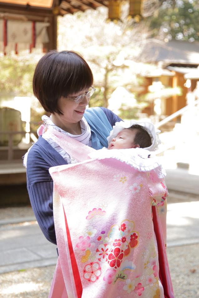 お宮参り 家族写真 京都出張撮影 カメラマン京都