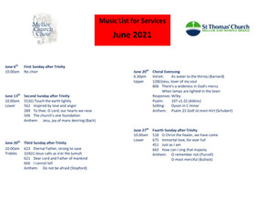 Music for June and Marc & Laura's Wedding now on Website