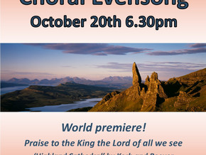 World Premiere of a new anthem at Choral Evensong
