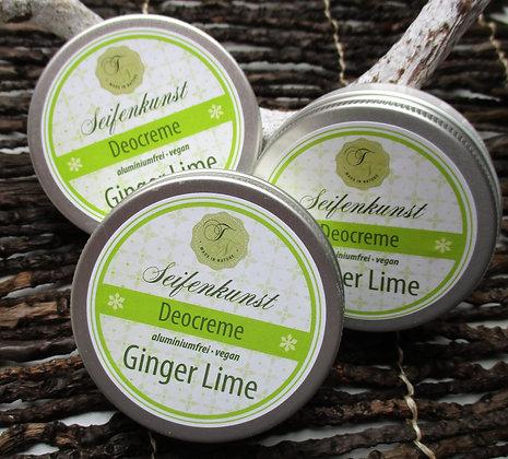 Deocreme GingerLime vegan (Kunststoff-Tiegel)