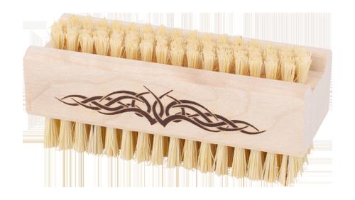 Nagelbürste mit Tribal-Brennstempel (Firma Redecker)
