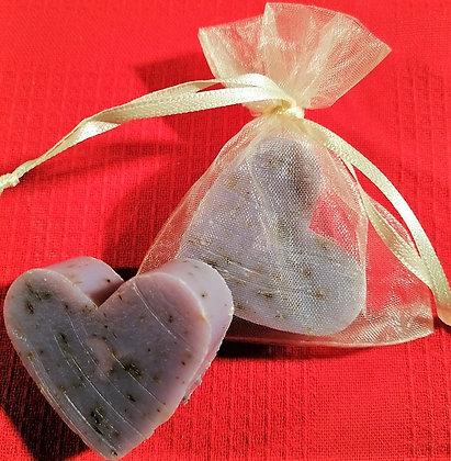 Florex Schafmilchseife Lavendel Herz 23g im Organza