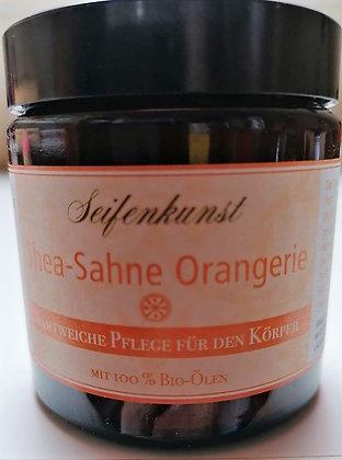 "Körpersahne Shea-Sahne ""Orangerie"" im Glastiegel 120ml - vegan"