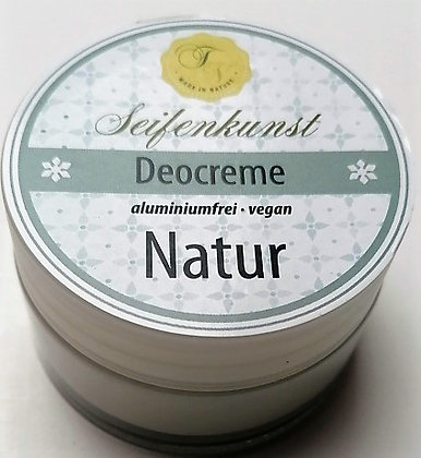 Deocreme Natur, duftfrei, vegan - im Glastiegel