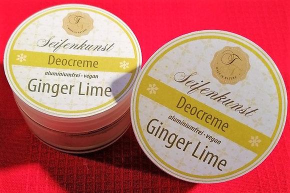 Deocreme GingerLime vegan (NEU im Glastiegel)