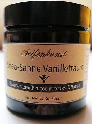 "Körpersahne Shea-Sahne ""Vanilletraum"" - vegan  (im Glastiegel 120ml)"
