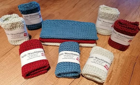 Spül-/Waschlappen aus 100% Baumwolle