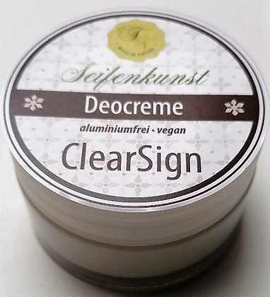 Deocreme ClearSign vegan - im Glastiegel