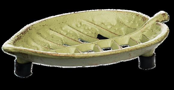 """Seifenschale """"Blatt"""" grün"""