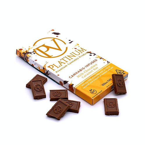 100mg MILK CHOCOLATE CARAMEL BAR I Platinum Vape