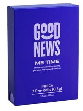 $39 I ME TIME I INDICA  7  0.5G PRE-ROLL SHORTIES PACK I GOOD NEWS I THC 11.733%