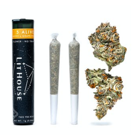 5 ALIVE PRE-ROLL PACK I LITHOUSE I THC 26% I HYBRID