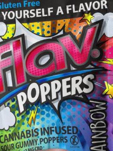 RAINBOW SOUR GUMMY POPPERS | FLAV | 100mg