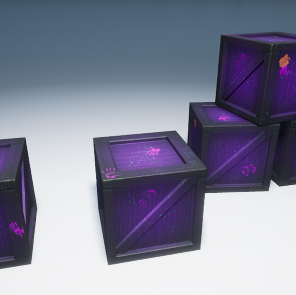 Spooky Crate Game Asset