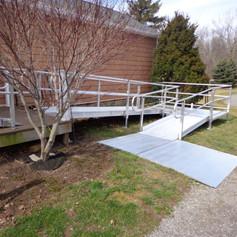 Residential Ramp with Ground Platform