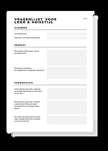 Vragenlijst logo ontwerpen.