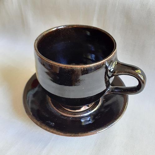 WBS Handmade Ceramic Cup & Saucer Set #8