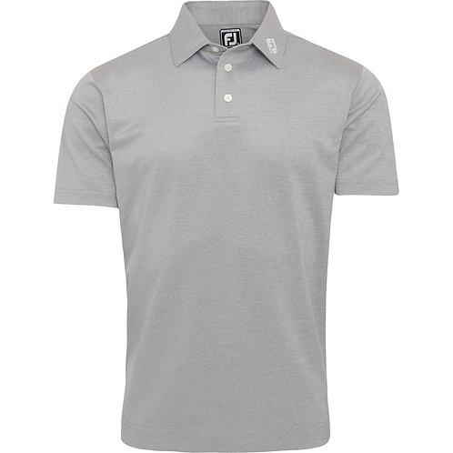 FootJoy Poloshirt Stretch Piquet, Athletic Fit, kurzarm, grau