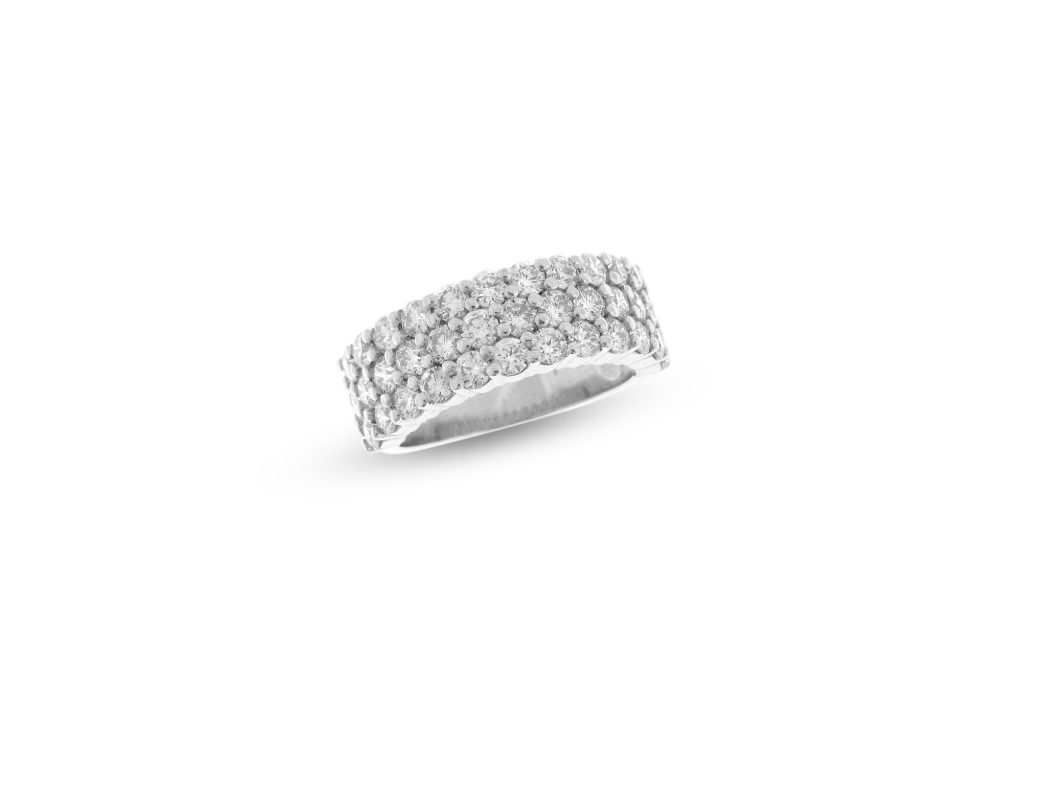 3-Row Diamond Anniversary Ring