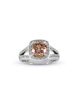 Chocolate Diamond Halo Ring