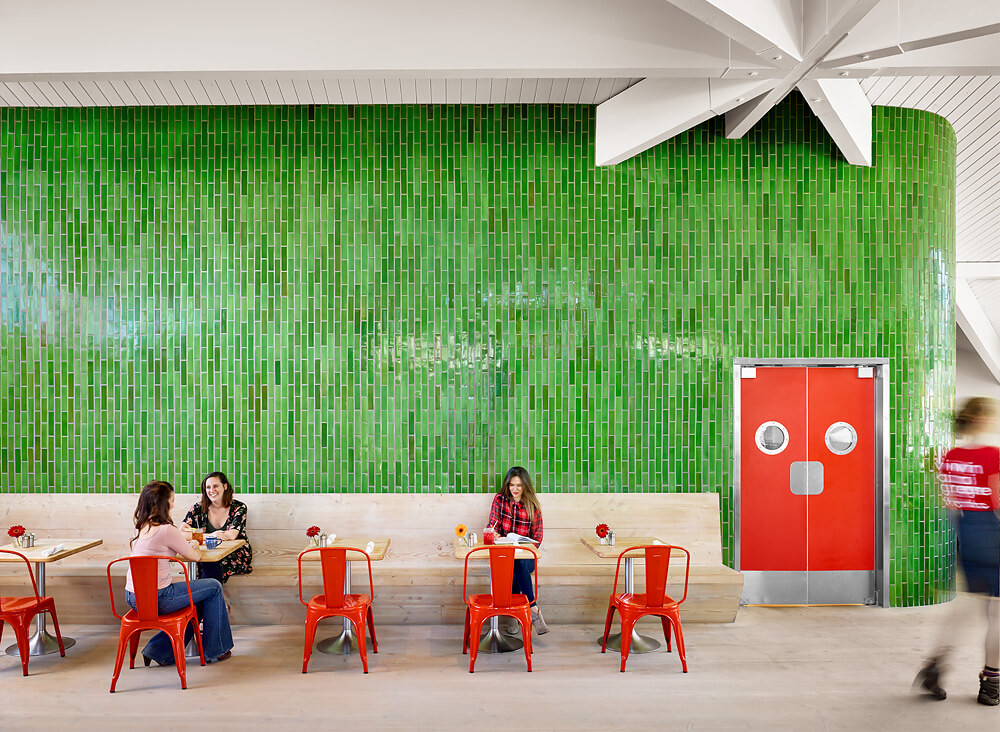 Healing Green Tile Wall