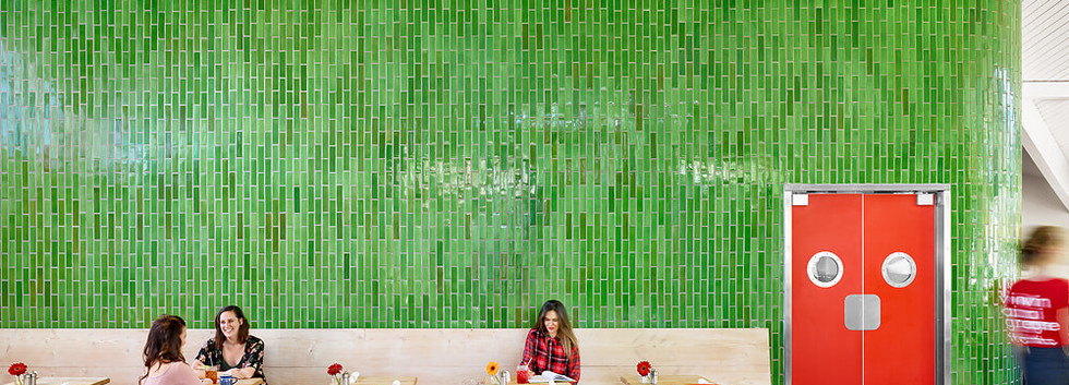 Healing Green Tile Wall