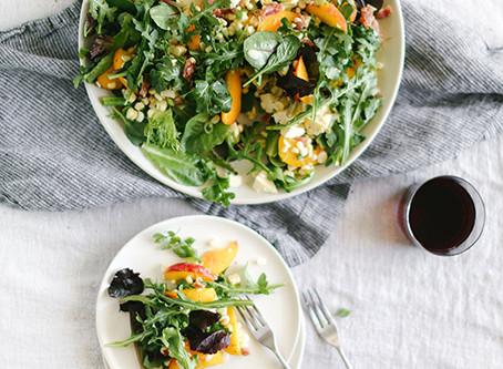 Make this: Peach and Burrata Salad Recipe