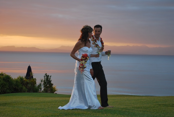 Luxury Fiji Wedding Sunset