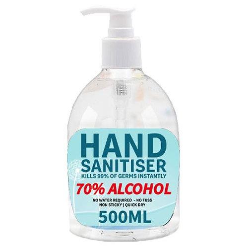 Hand sanitiser (70% Alcohol) - 500ml/Case of 6