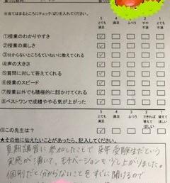講師アンケート2021(高校生)
