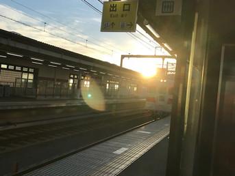 夏期講習時間割と西新町駅始発電車
