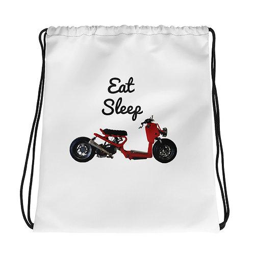 Eat, Sleep, Ruckus Drawstring bag