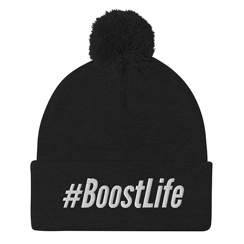 #BoostLife Pom-Pom Beanie