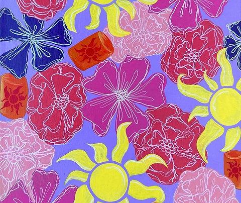 Custom Disney Inspired Floral Canvas