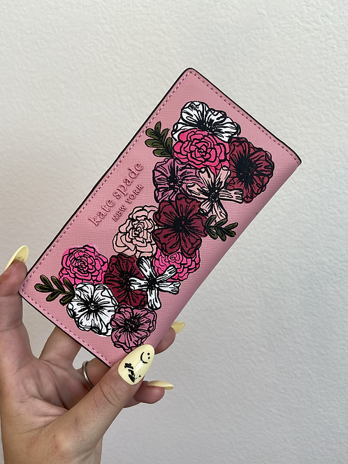 Ready to Ship Floral Kate Spade Wallet