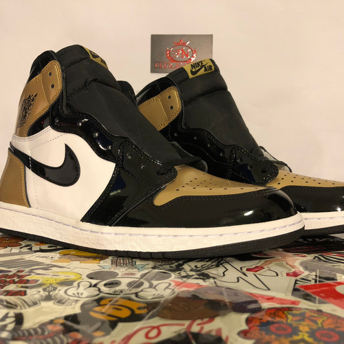 05eeb17f9e4 Jordan 1 Retro High NRG Patent Gold Toe