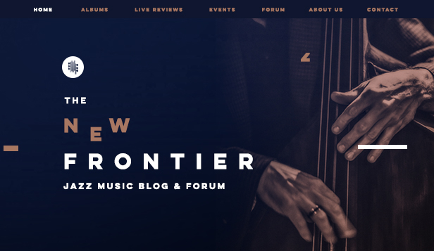 Arte e Cultura website templates – Blog di musica jazz