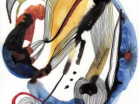 O equilíbrio das manchas e linhas em uma relação afetiva com as cores.