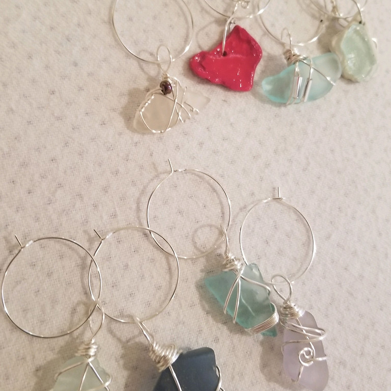 Wire Wrapped Wine Charms