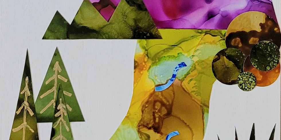 Collage with Alcohol Ink Papers