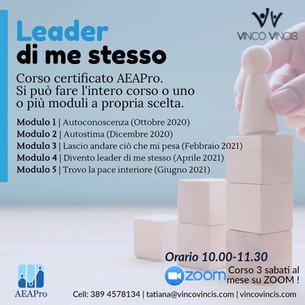 Corso: Leader di me stesso