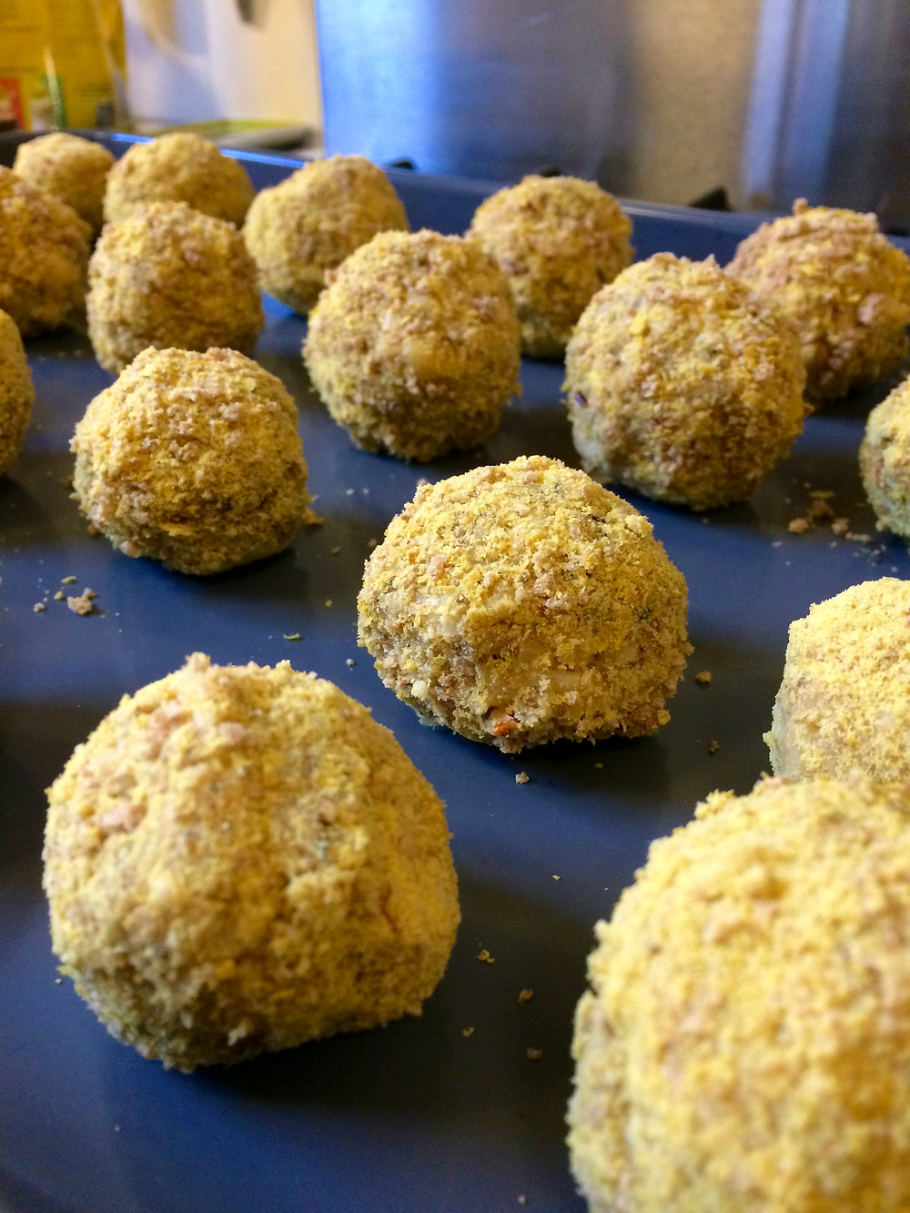 Bean Balls before the oven