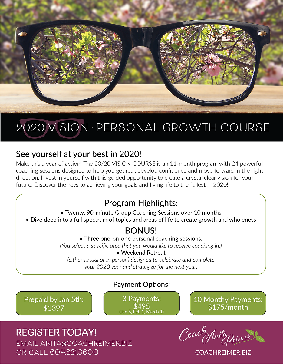 2020 Vision Personal Growth Course with