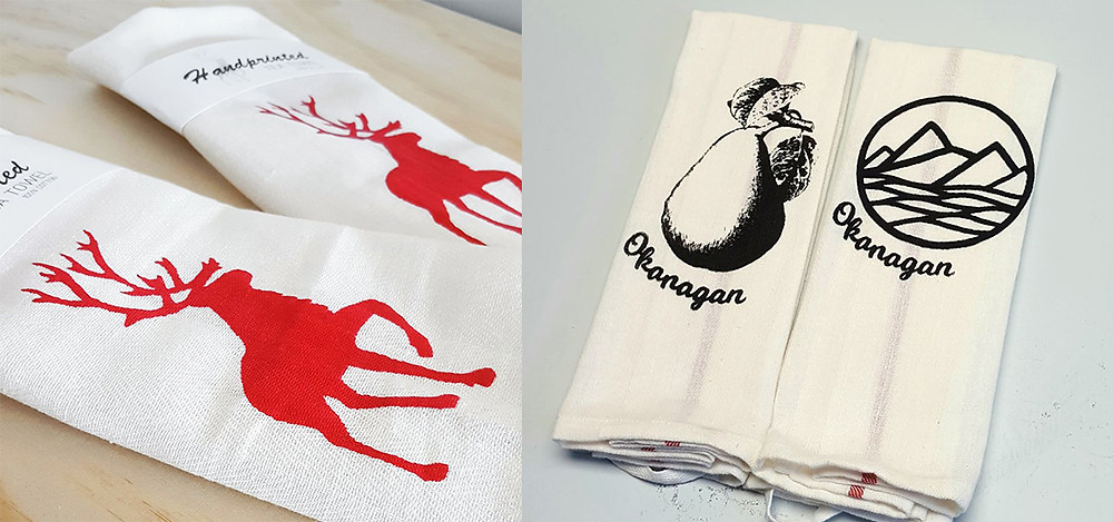 NinjaDiva Design Studio Okanagan Tea Towels