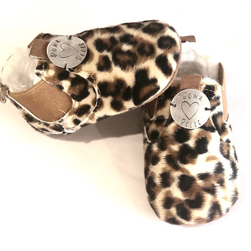 Personalised Hand Stamped Bar Leopard Print Booties