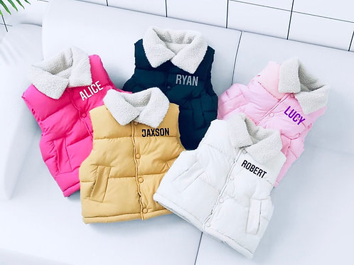 Collared Personalised body warmer