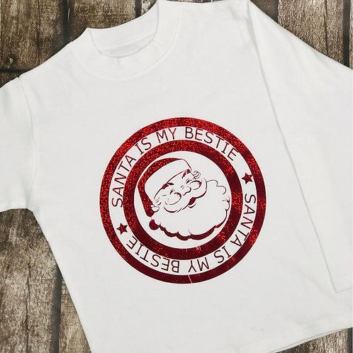 Santa is my bestie long sleeve tee